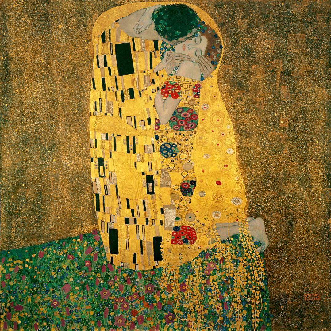 Celebrating #nationalkissingday with Gustav Klimt's The Kiss! #ArtHappy http://t.co/ZMGzZ71imK