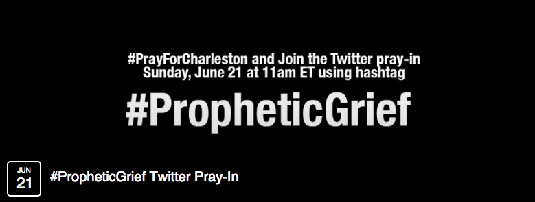 Join the Online Pray-In for Charleston, Sunday @ 11am ET #PrayForCharleston #PropheticGrief http://t.co/y4GrrcDTNt http://t.co/ePTmY8JYHJ
