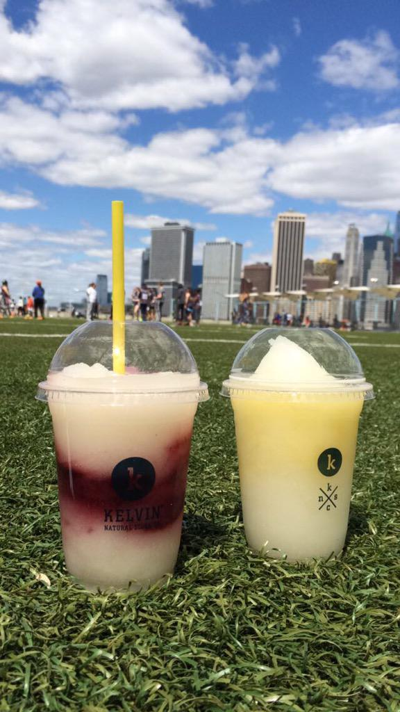 Have lunch (and #KelvinSlush!) with a view this weekend at @smorgasburg! RT @DanlGriffiths  #Brooklyn #SlushLife http://t.co/ql1WWZdHPc