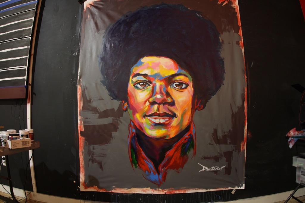 Just finished the #MichaelJackson piece. http://t.co/qFxXvZvUTg