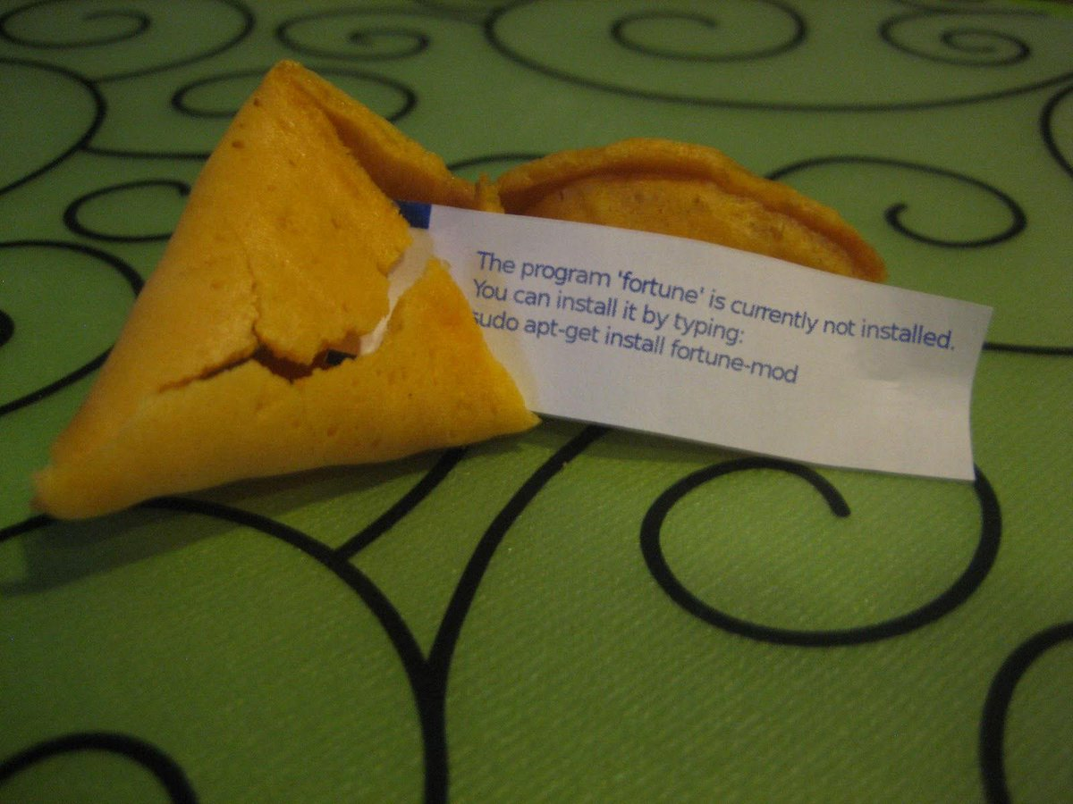 They started using Linux at the fortune cookie factory because they heard they could save a fortune. http://t.co/Pi4Z6ykzg0