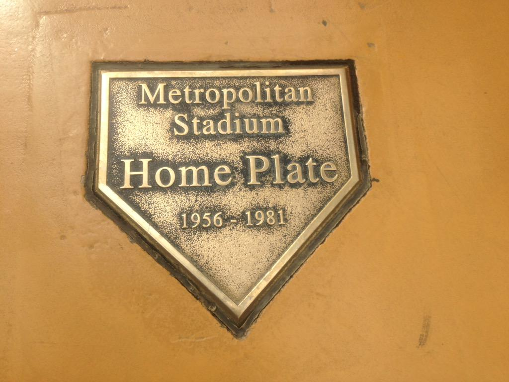 Image result for met stadium home plate mall of america