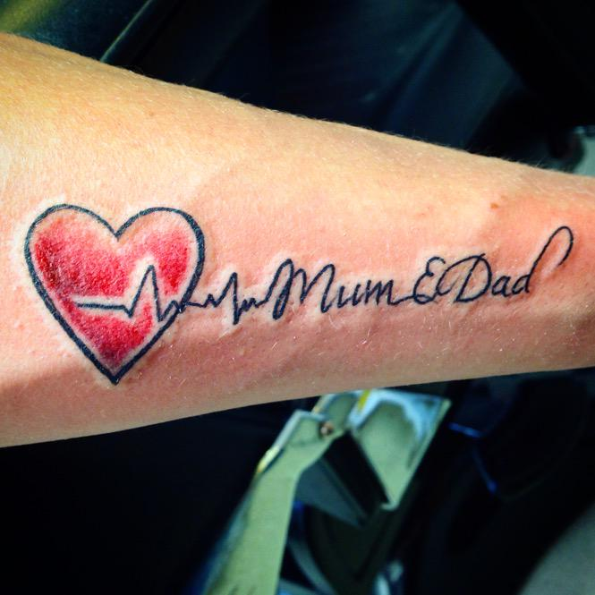 C13 Tattoo Studio On Twitter Heartbeat Family Mum Dad Love
