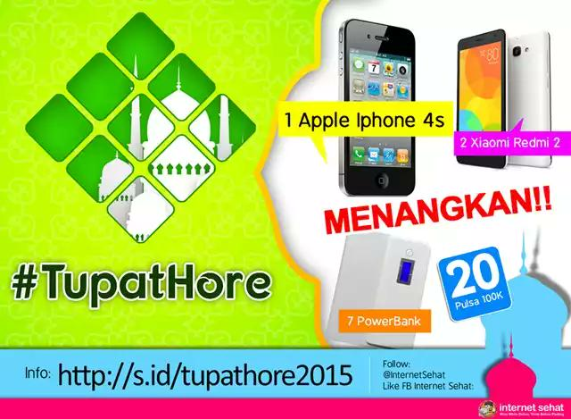 Bagi yang mau dapat iPhone bisa ikutan kuiz #tupathore dari @internetsehat http://t.co/lZy9n3uydB