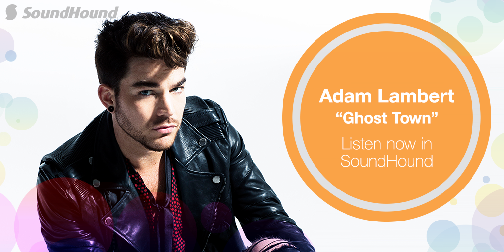 """Check out the exclusive stream of our Featured Song @AdamLambert's """"Ghost Town [@StevenRedant Remix]"""" in #SoundHound! http://t.co/WY8urydvsh"""