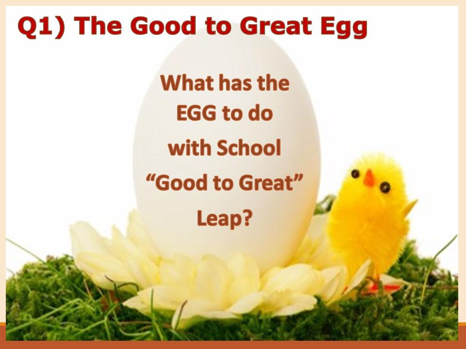 Q1 The egg metaphors.. How is that related to schools making the leap from good 2 great #INZPirED http://t.co/z2LSo12Lh1
