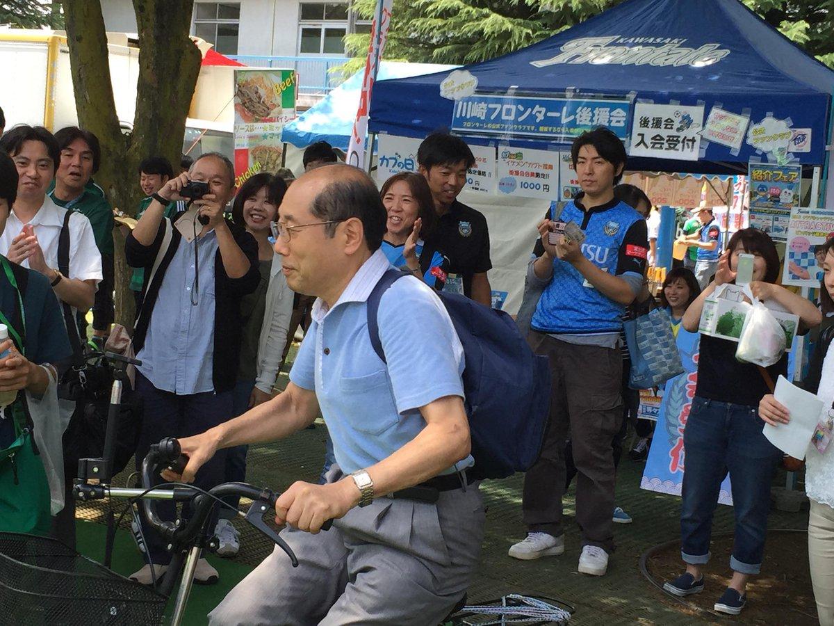 桐谷さん、チャリでトークショーイン・笑。 http://t.co/IFzw8ISp8O