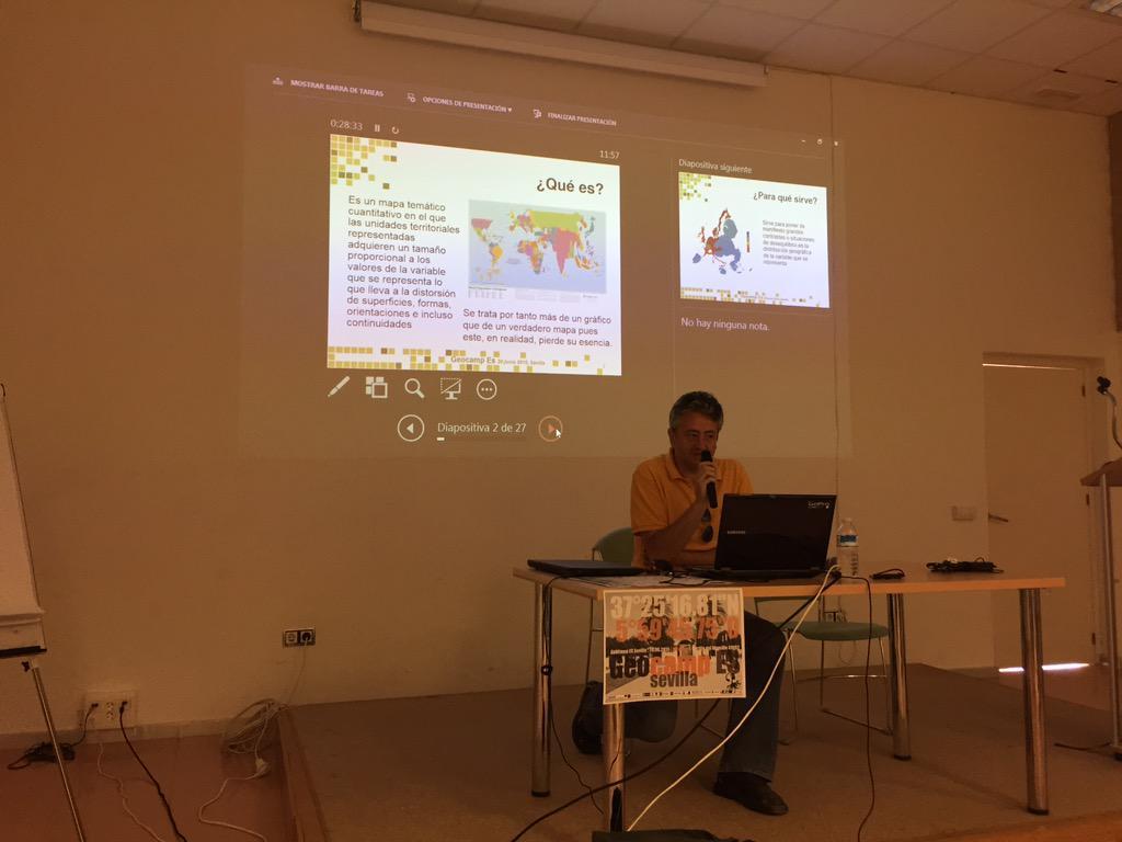Seguimos con Jose Antonio Calmaestra y la cartografia anamórfica #geocampes http://t.co/HaRCGV0buQ