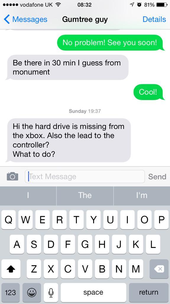 Gumtree Sent Messages