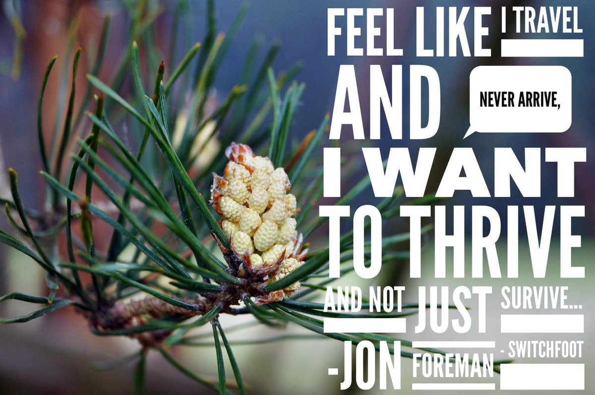 """Feel like I travel and never arrive I want to thrive and not just survive""  ~ Jon Foreman, Switchfoot http://t.co/ROwAHY2ea4"