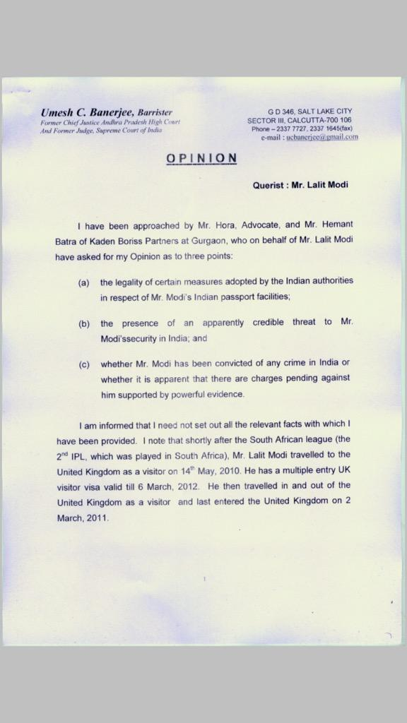 Lalit Kumar Modi On Twitter Here Are The JPEG Pages Of Opinion Justice Banerjee 1 4 Tco UirrHnXzV3