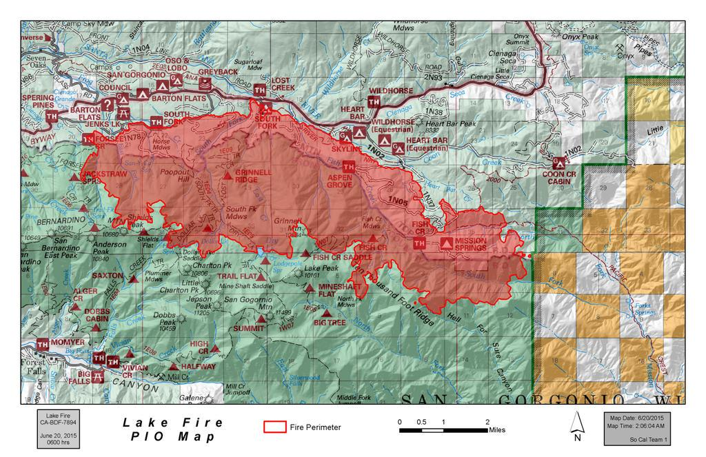 CFN CALIFORNIA FIRE NEWS CAL FIRE NEWS CABDF Lake Fire San - Calfire fire map