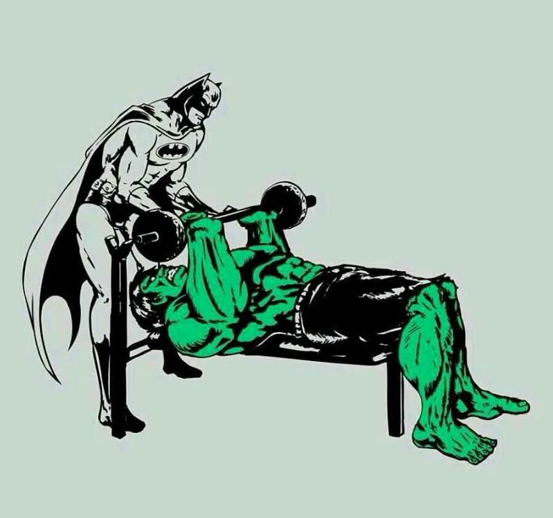 DC et Marvel collaborent pour le bench ! C'est que c'est vraiment important :p !