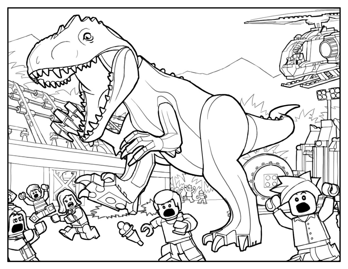 megamarx spacealien on twitter legojurassicworld i converted the coloring sheets on the lego jurassic world website so i can paint while i wait - Lego Jurassic Park Coloring Pages