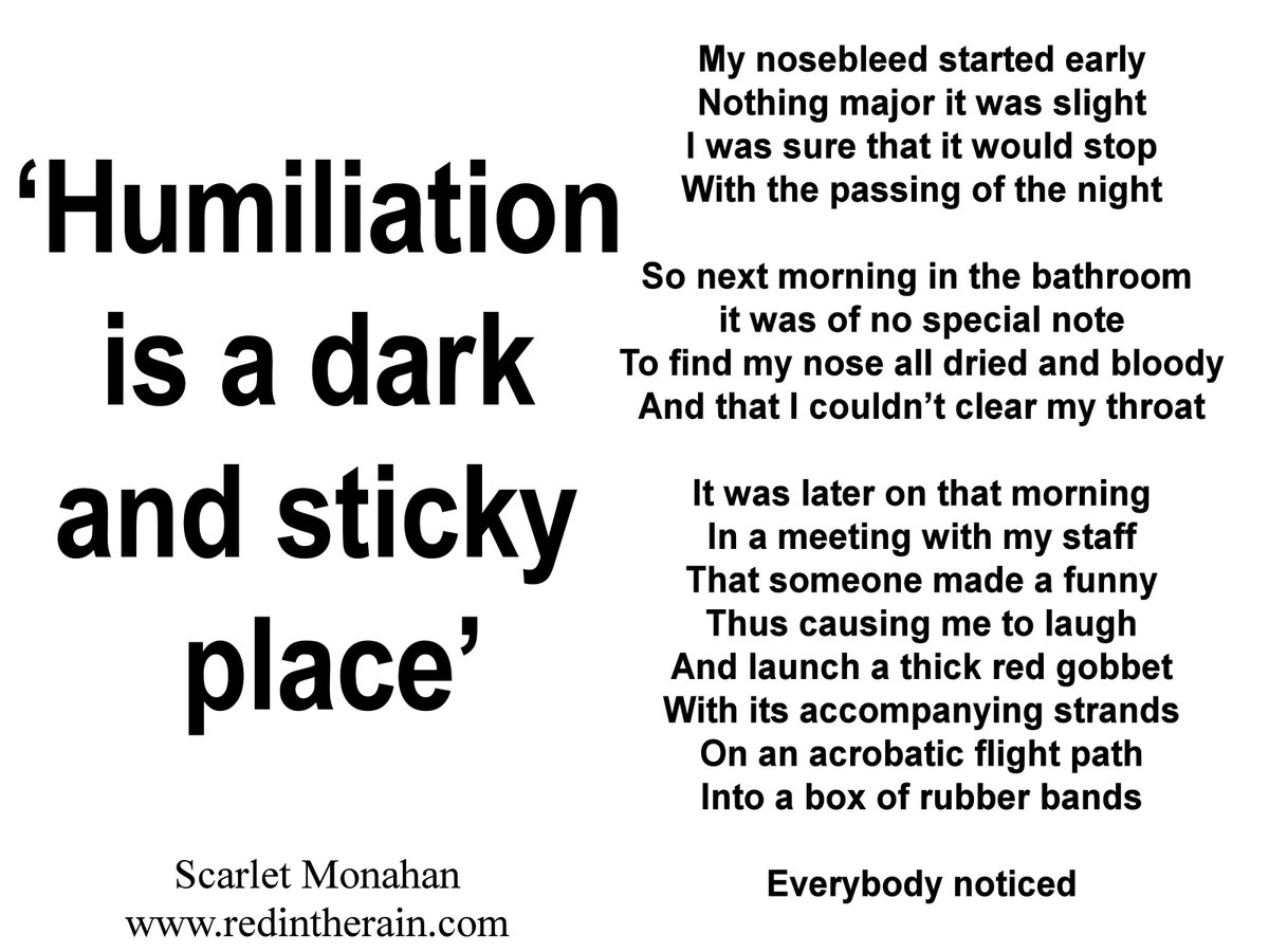 Humiliation is a dark and sticky place <br>http://pic.twitter.com/GNo7LWfc7l #aquarius #cnd #banthebomb #peace #love #ageofaquarius�