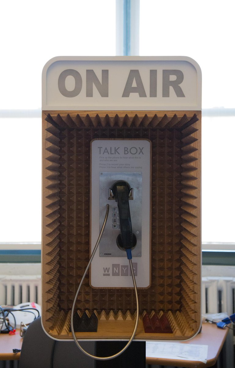 Wnyc On Twitter Radio Old Phone Booth 3d Printer Wnycs Wiring Box Talk When It Lands In Your Neighborhood What Will You Tell Us