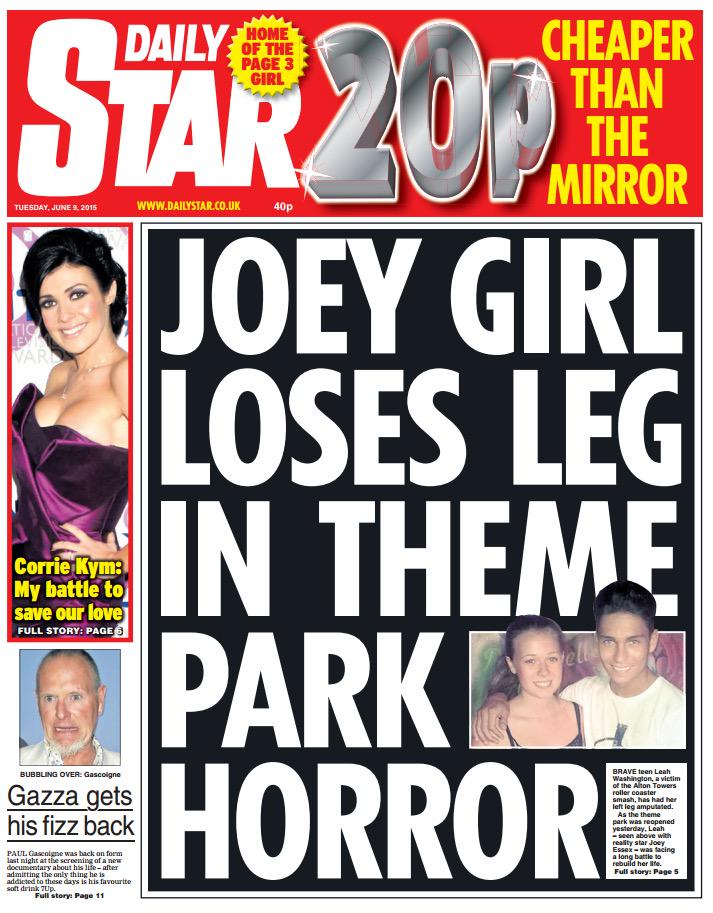 """To anyone who works for the Daily Star, or buys this, please accept my sincere """"f*ck you"""" for this headline. http://t.co/kpoJNWRRCp"""