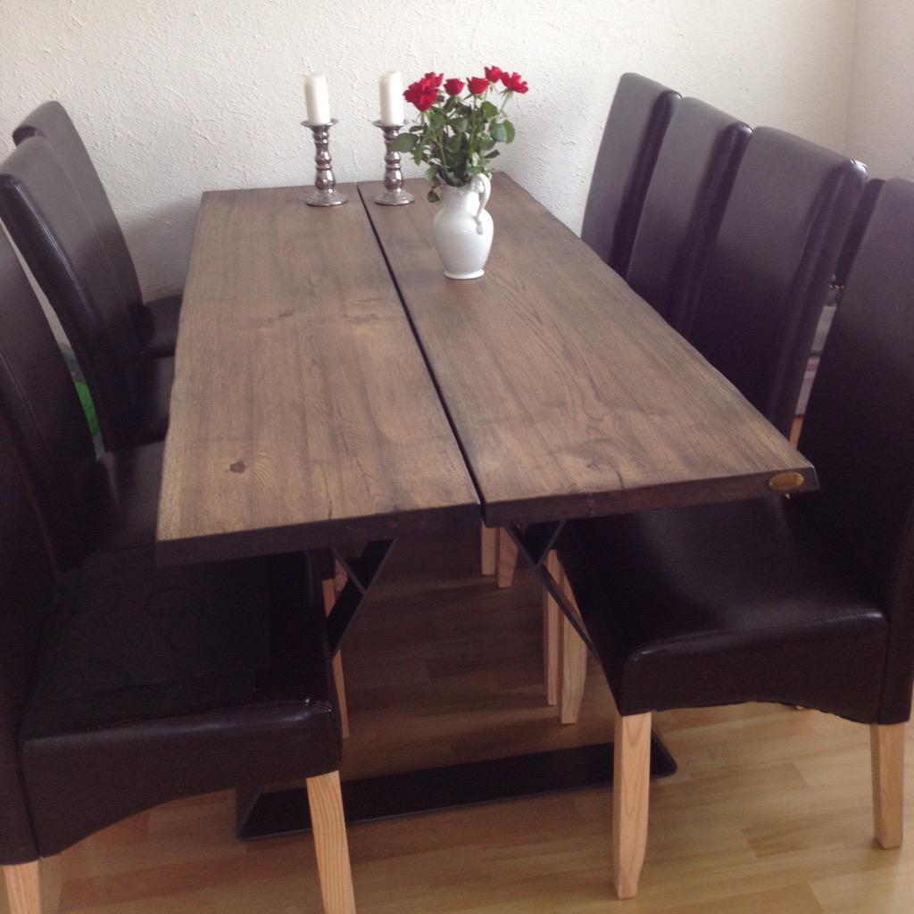 "Toka design on twitter: ""sortbejdset planke spisebord med sorte ..."