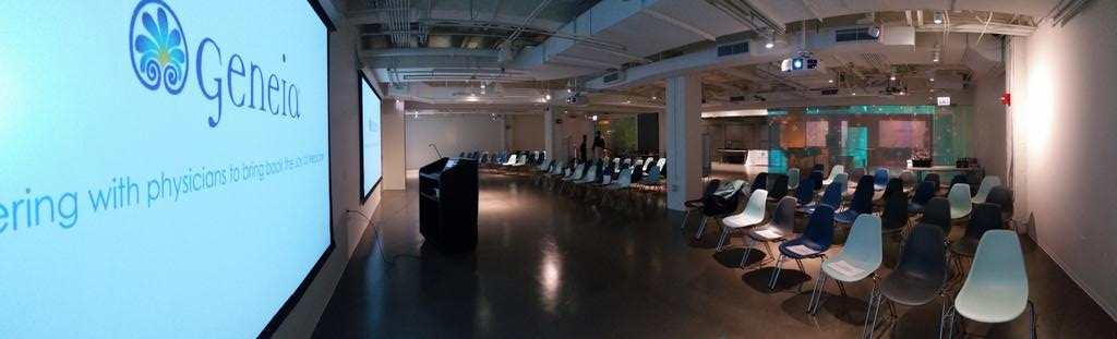 Gorgeous @MATTERChicago space- getting ready for @Geneia #JoyofMedicine Pitch-off! http://t.co/rrKElYTt8I