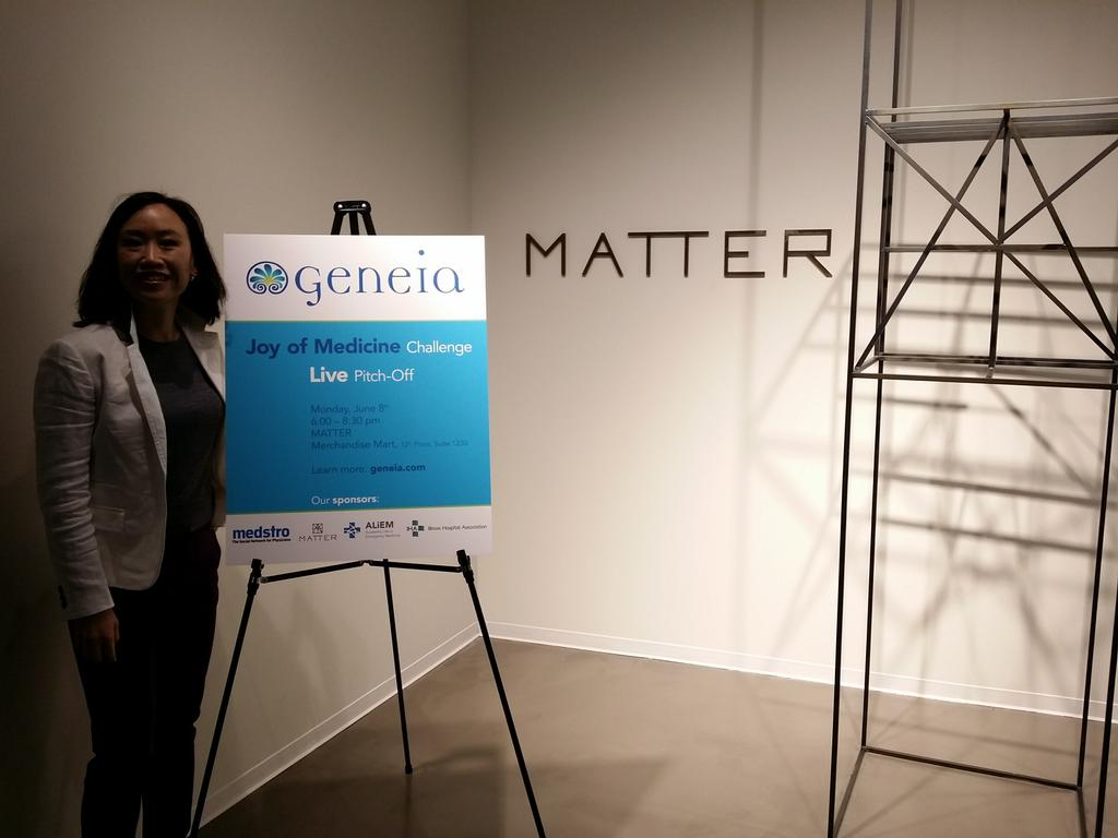 Exciting! Who is coming to the @Geneia #JoyofMedicine Pitch-off @MATTERChicago tonight?! http://t.co/iOF48bIsrk
