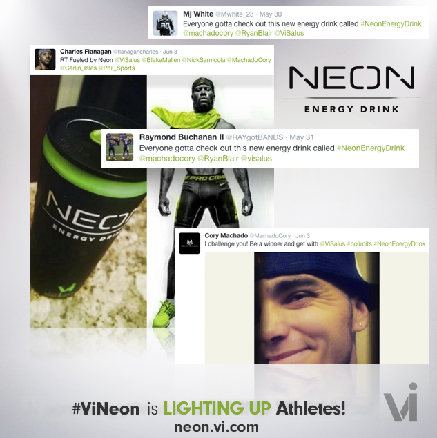 Check out the love we've been getting for #ViNEON from pro athletes and celebs! #NeonEnergyDrink http://t.co/R8OGR1bdZD