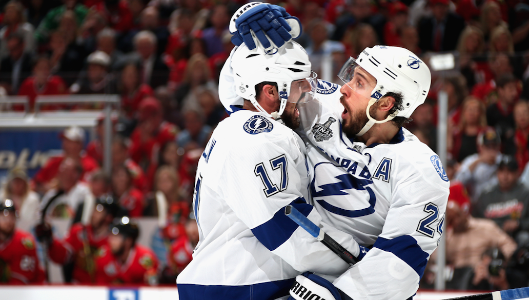 BOLTS WIN, 3-2! ⚡️  Tampa Bay takes #StanleyCup Final series lead, 2-1. http://t.co/fHJJOHBtqS