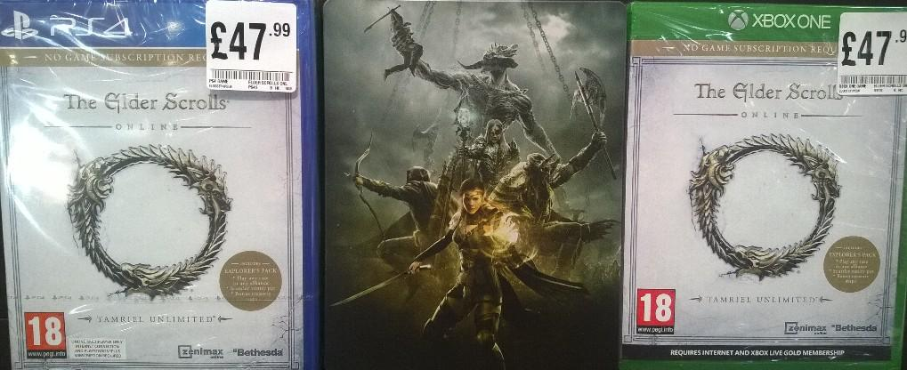 Elder scrolls online now on ps4 & xbox1 for £47 99 with steelbook