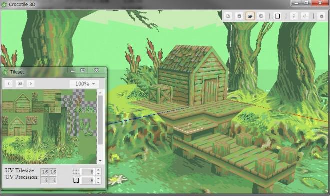 Crocotile 3D v.1.0.18 - 2Dタイルチップをベースに3Dモデルを構築するソフトウェア!Win&Mac 3D人 http://t.co/4l2TZUhiVE http://t.co/RhoSZkmL46