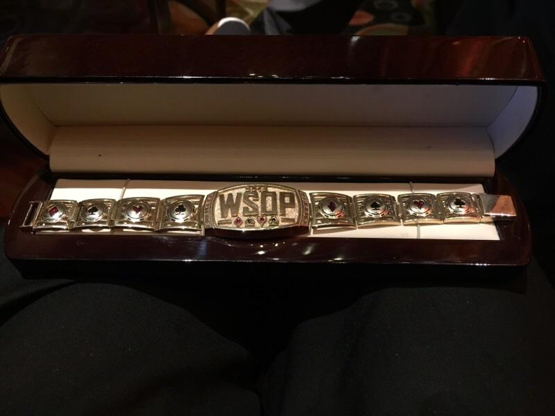PIC: my 14th @WSOP Bracelet!!  So beautiful... http://t.co/3Nvg29VZgU