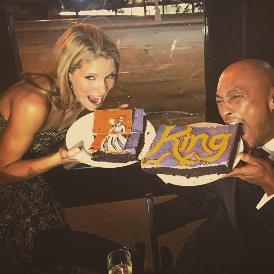 Tony Award winner @kelliohara and @Watanabe have their cake and eat it too! #KingandI http://t.co/9b222LMMmh