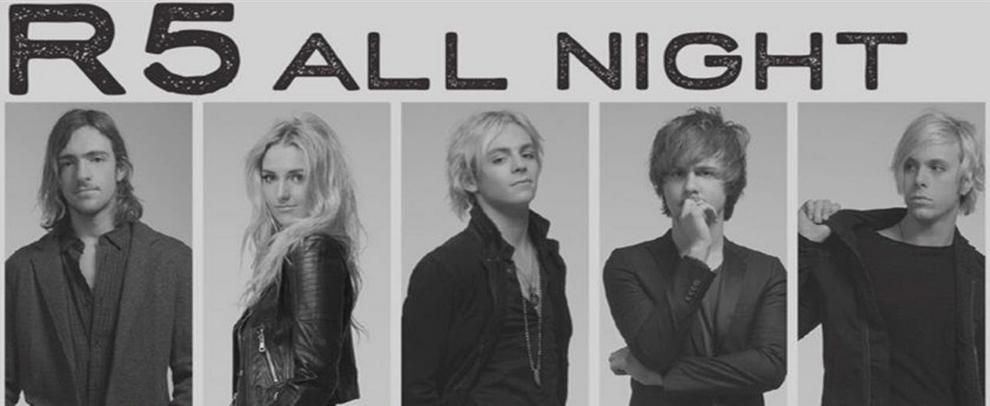 How long should you be listening to @officialR5's latest single? #AllNight. http://t.co/uYbKI2cKTI http://t.co/rcRykW4u5o