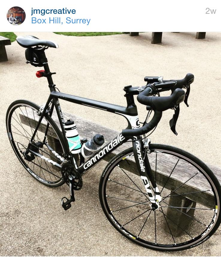 Please RT husband's @cannondalePro bike was stolen frm Oxford Circus, #London. It's missing a front wheel #cycling http://t.co/NnVMYeX281