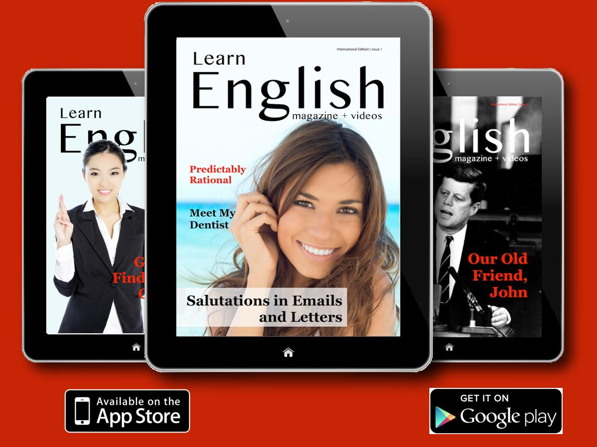 ESLPod now has a magazine. It's FREE! For iOS: http://t.co/dWzr56U9oQ or Android (4.1+): http://t.co/CQlJKYXcHk http://t.co/8cxdZao52h