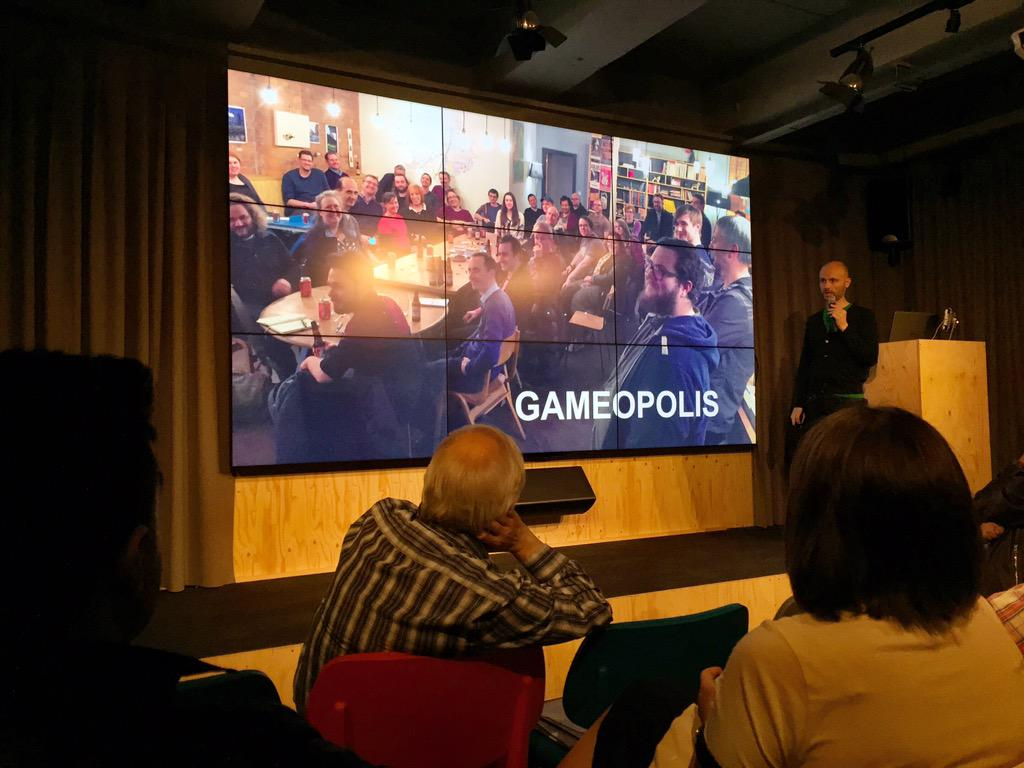Hah. @Vauncey talks #Gameopolis at #startupjourneys. And I appear to be drinking in shot. http://t.co/JEWRAqPQZH