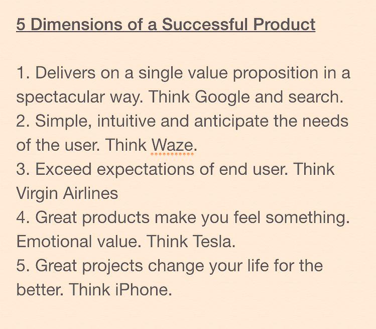 The 5 Dimensions of a Successful Product - @jeffweiner @LinkedInB2B #FutureofB2B http://t.co/9yFK4XlprL