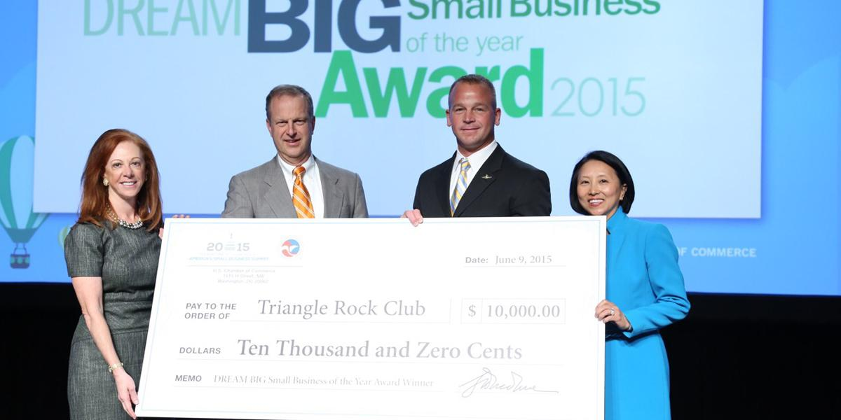 Congratulations to @ClimbingTRC: America's next Small Business of the Year! - http://t.co/4XDfWucJuC #IamSmallBiz http://t.co/IaOBBDmJSC