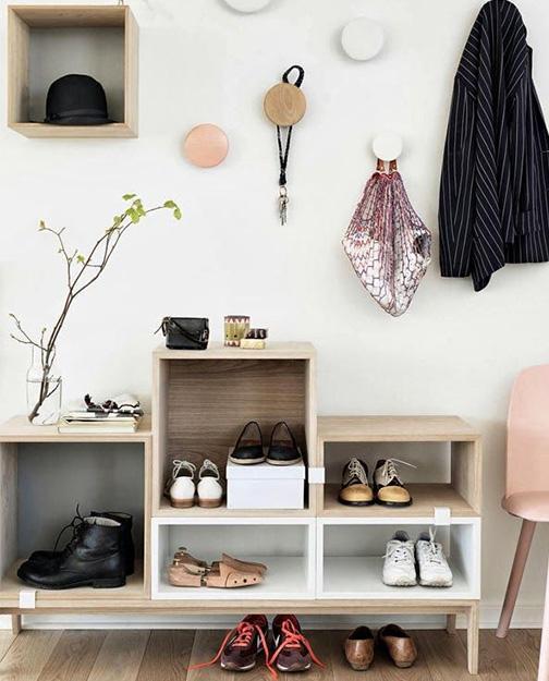 magazine id es deco 15 astuces originales pour ranger ses chaussures. Black Bedroom Furniture Sets. Home Design Ideas