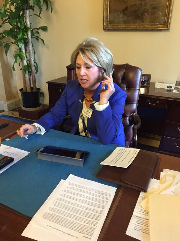 Doing small business at Sen Cornyns desk. #asbs  #IamSmallBiz http://t.co/a7a3zMt5ke