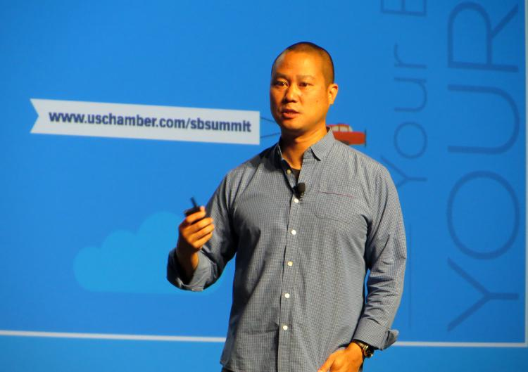 YAY!! @TonyHsieh of @Zappos investing in #startups that move the needle on social betterment.  #IamSmallBiz http://t.co/0fVbI1BzLE