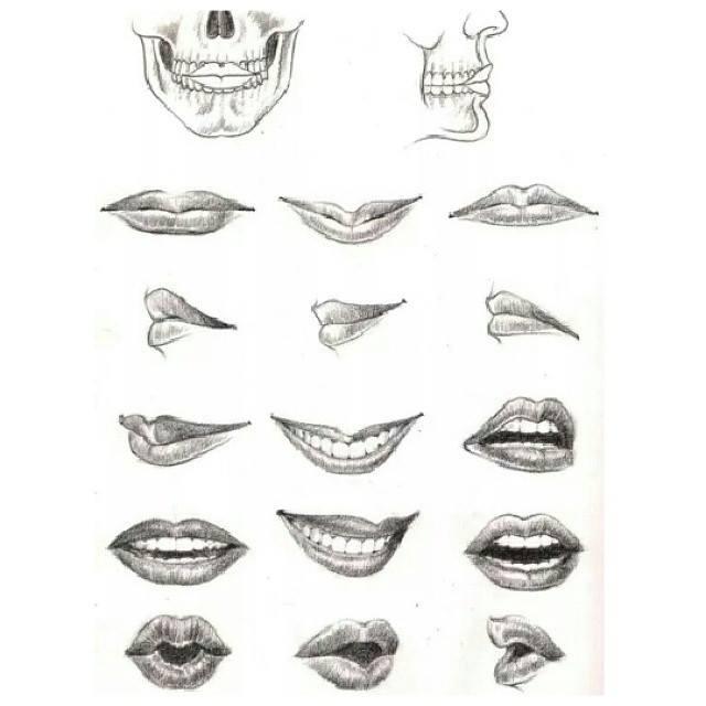 Dibujo A Lapiz (@DibujoconLapiz) | Twitter Pencil Drawings Of Lips Smiling