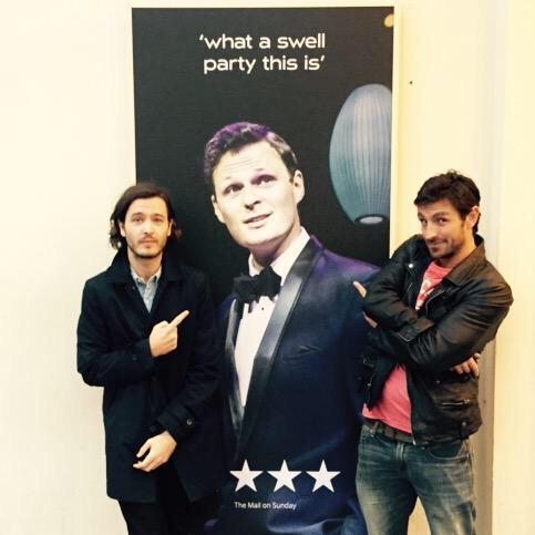 So these guys came- @vlavla looks more like me than me- @eoincmacken looks like a competition winner @oldvictheatre http://t.co/oUmy9yjAjc