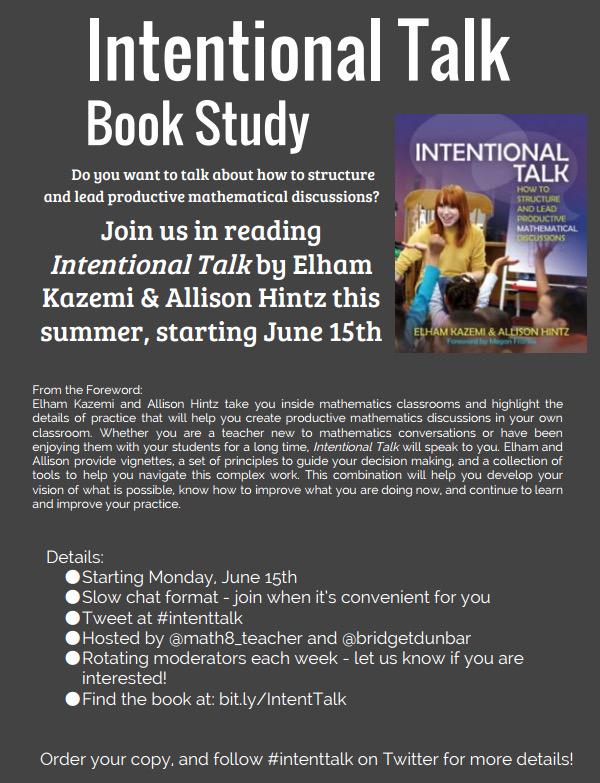 "Thumbnail for ""Intentional Talk"" Book Study - Chapter 1"