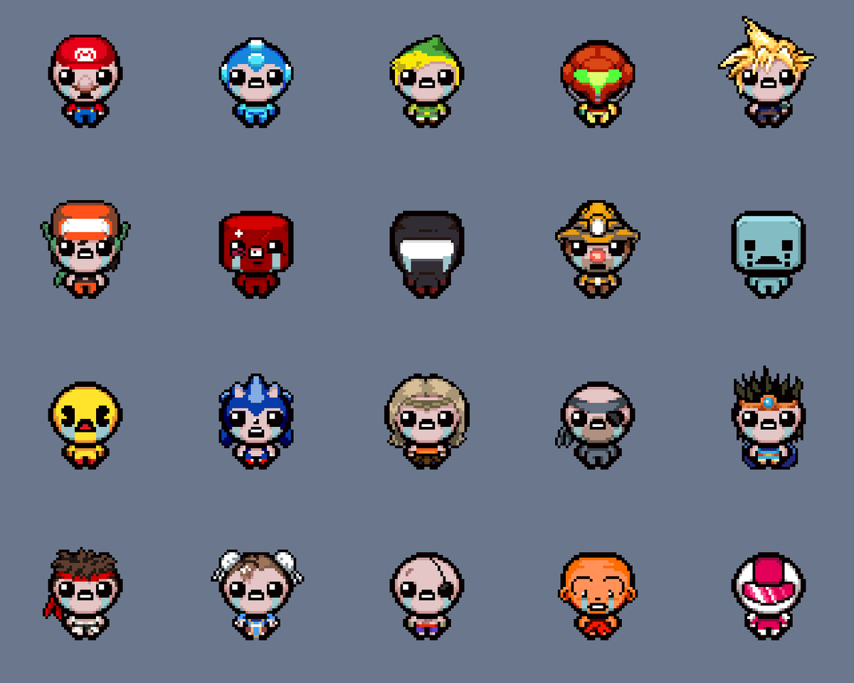 When Isaac cosplays: The Binding of <INSERT FAVORITE HERO> http://t.co/8CI2gyjZ1M