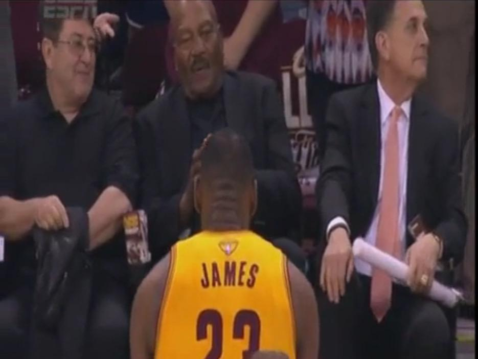 bc50e9957c3 video lebron james bows to jim brown before nbafinals game 3  realrecognizereal
