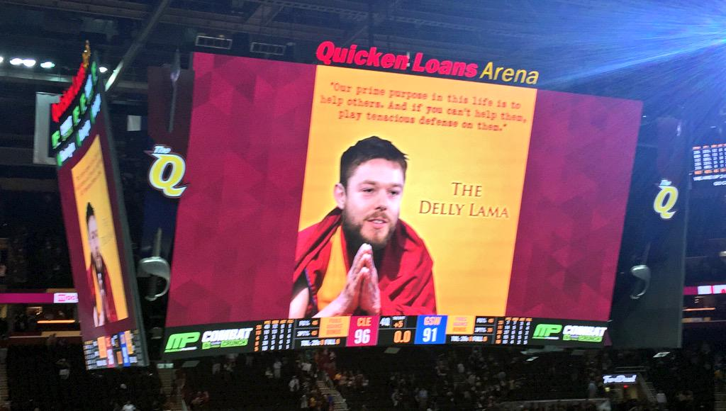 The Delly-Lama!!! #GoCavs http://t.co/BqhuNGR5nB