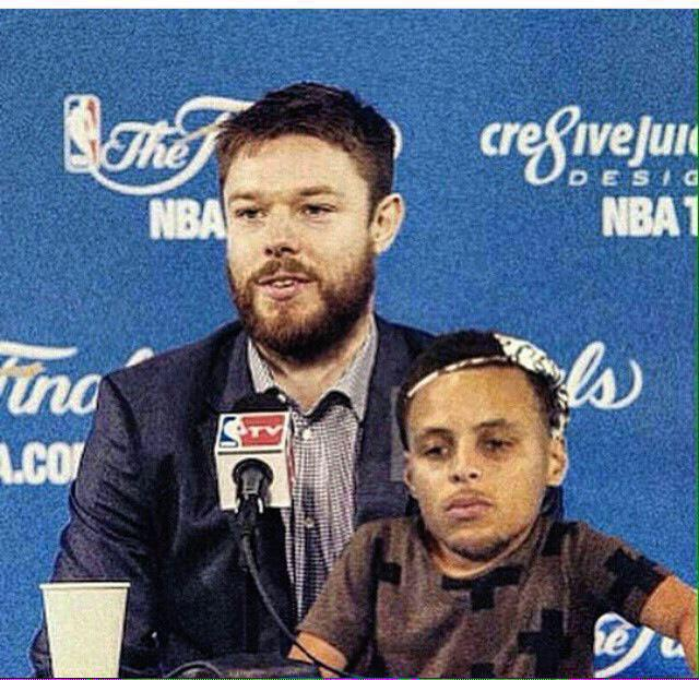 The media is going to be pissed that Steph brought his dad   #NBAFinals http://t.co/h6pBBOT5qW