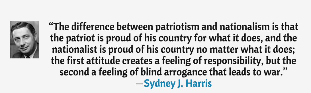how to develop nationalism and patriotism