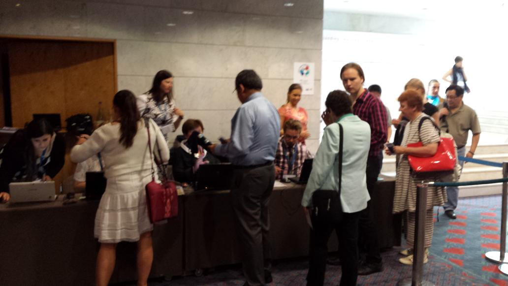 Delegates arriving for day 1 of #eden15 http://t.co/G2DEIzIxeg
