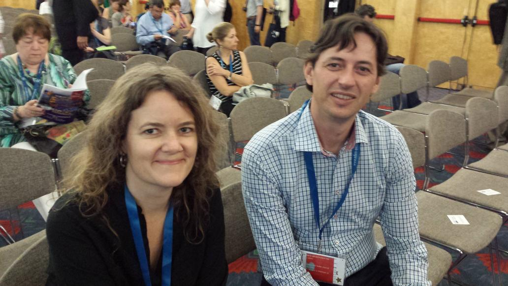 @audreywatters and @mfdelaat two of our keynote speakers at #eden15 this morning http://t.co/2r1zN70j76