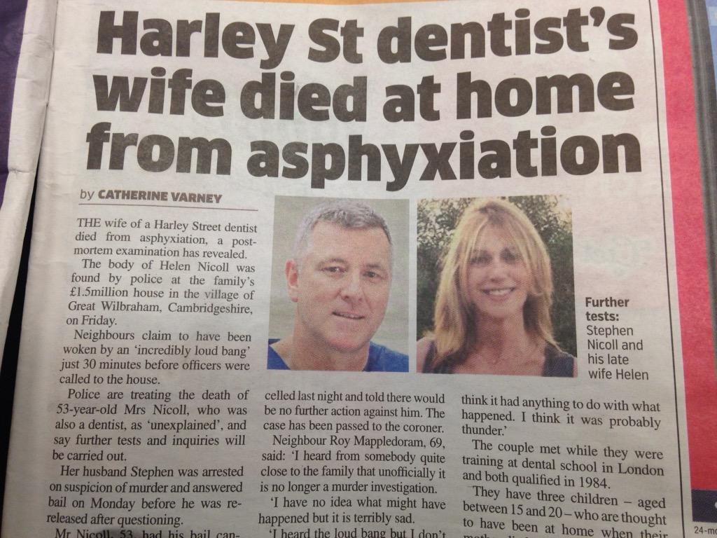 This dead woman, described by @MetroUK as a 'dentist's wife', was a dentist. His photo comes first in the article. http://t.co/NCyBO2PWzF